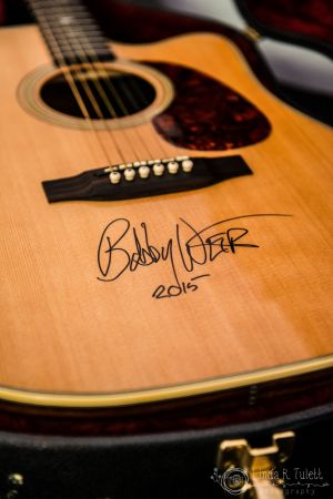 Bob Weir Signed Guitar @ Sound Summit 2015