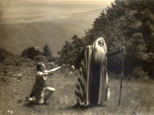 Scene from Abraham and Isaac, the first Mountain Play • Mount Tamalpais • 1913